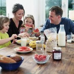 family eating bkfst